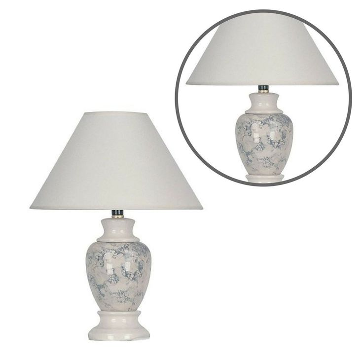 Classic Pottery Table Lamp Living Room Home Ceramic Accent Light Cone Shape #ClassicPotteryTableLamp #Contemporary