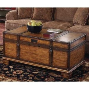 Neat Idea For A Trunk Cof Table Base
