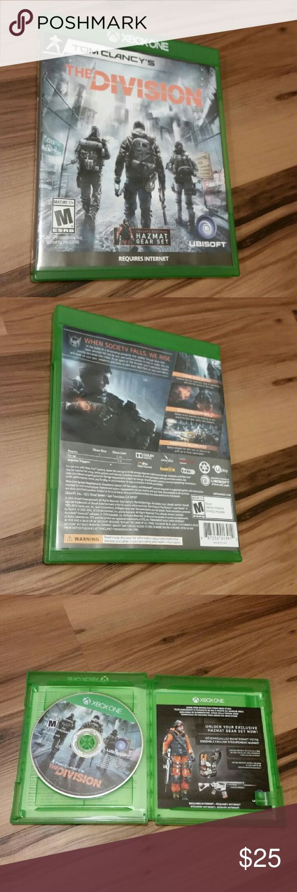 The Division Xbox One Game Like new.  All prices are negotiable. Make me an offer! ♡ Other