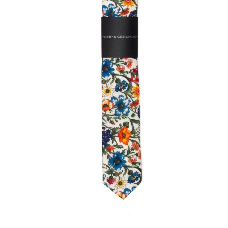 SKINNY TIE Pomp and Ceremony, Men's skinny tie, Liberty of London Rachel floral by pompandceremony on Etsy https://www.etsy.com/listing/271355586/skinny-tie-pomp-and-ceremony-mens-skinny