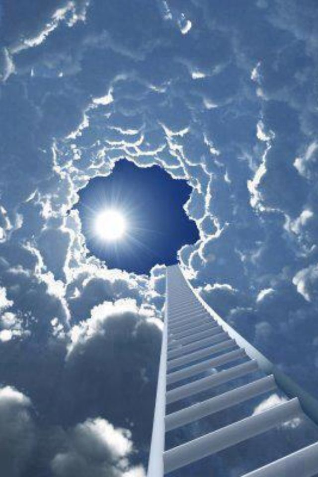 Stairway to Heaven You may think you can get to heaven this way, but there is an easier way. Let Christ into your heart and follow His way.