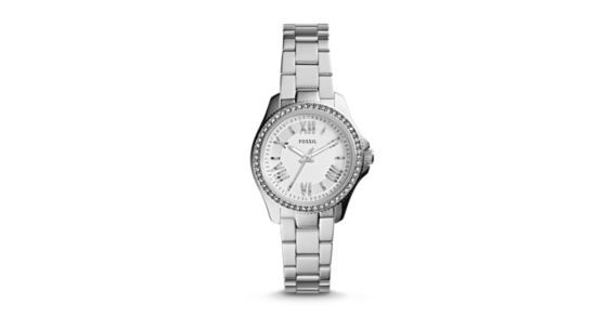 Refined and reinvented for fall, the chic Cecile you know and love arrives in a new petite size. Fifty-four sparkling stones and classic Roman numerals modeled after vintage clocks prove it's timeless in more ways than one.*Modeled after vintage clocks, our Roman numerals are uniquely designed to provide artistic balance to the dial.