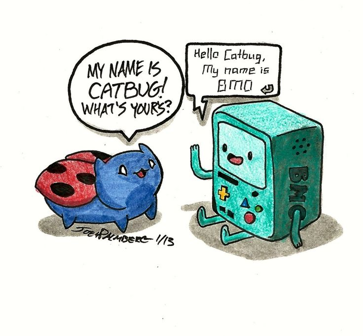 Cartoon Hangovers Cat Bug BMO From Adventure Time Created By The Same Person