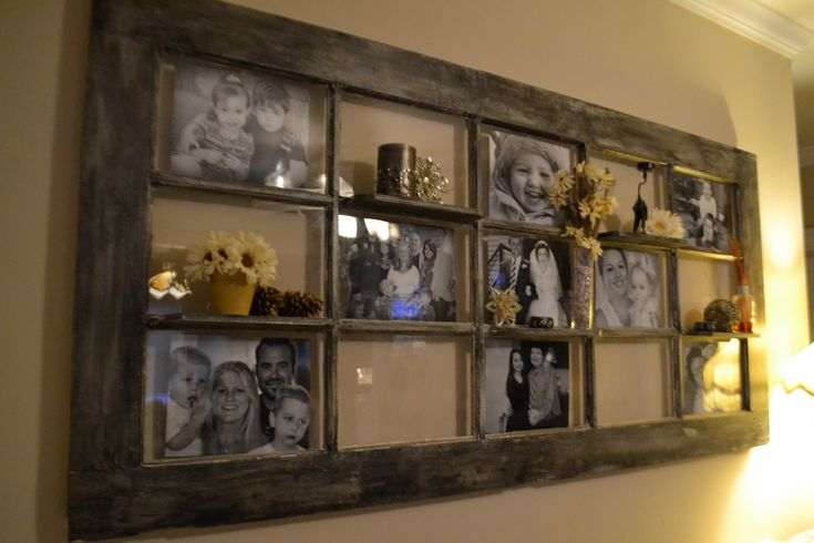 How to best reuse an old french door photo