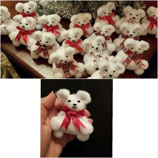 Christmas tree decoration bears. R30 each at our Christmas Fair 2014 on Saturday, 22 November 2014 from 9am - 2pm