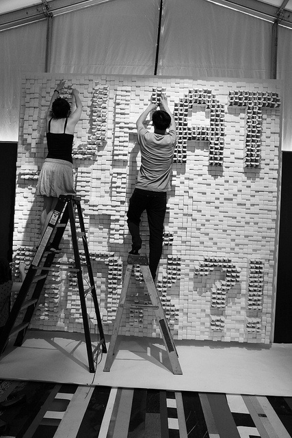 """""""What the Box?!"""" installation in Lounge Astral (Sid Lee Collective) © Barbara Haemmig de Preux - C2-MTL2012. #C2MTL"""
