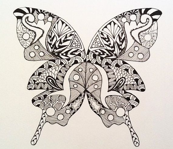 Zentangle Butterflies  Black And White  Art Butterflies  Zentangle Art    Zentangles Butterfly