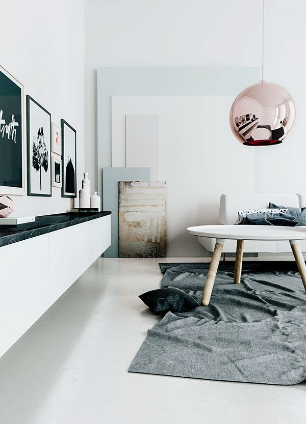 3D living room in the perfect tints - COCO LAPINE DESIGN