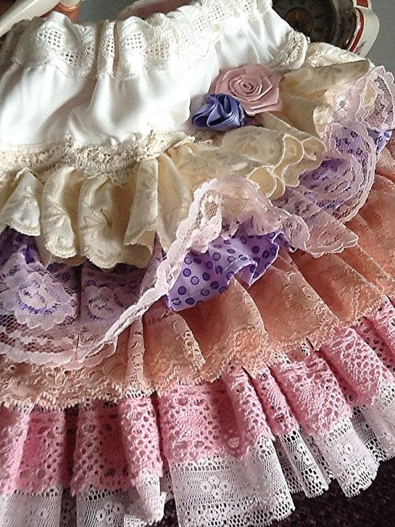Items similar to Vintage Lace ruffled birthday Toddler skirt , The Caitlin by Rosanna Hope for Babybonbons T2 pink and lavender on Etsy