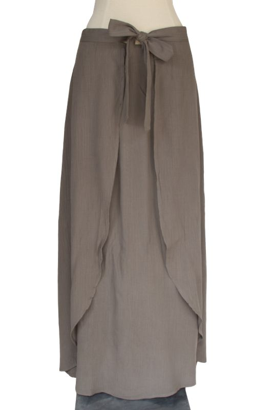 That's A Wrap Olive Maxi Skirt