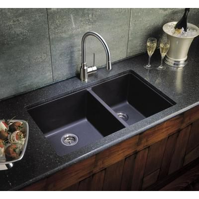 Love granite kitchen sinks! Blanco   Silgranit Natural Granite Composite Kitchen Sink, Undermount,