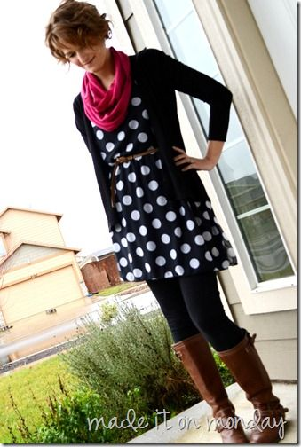 Polka Doted Tunic Top DIY- I've made a version of this 3 times. Love it!