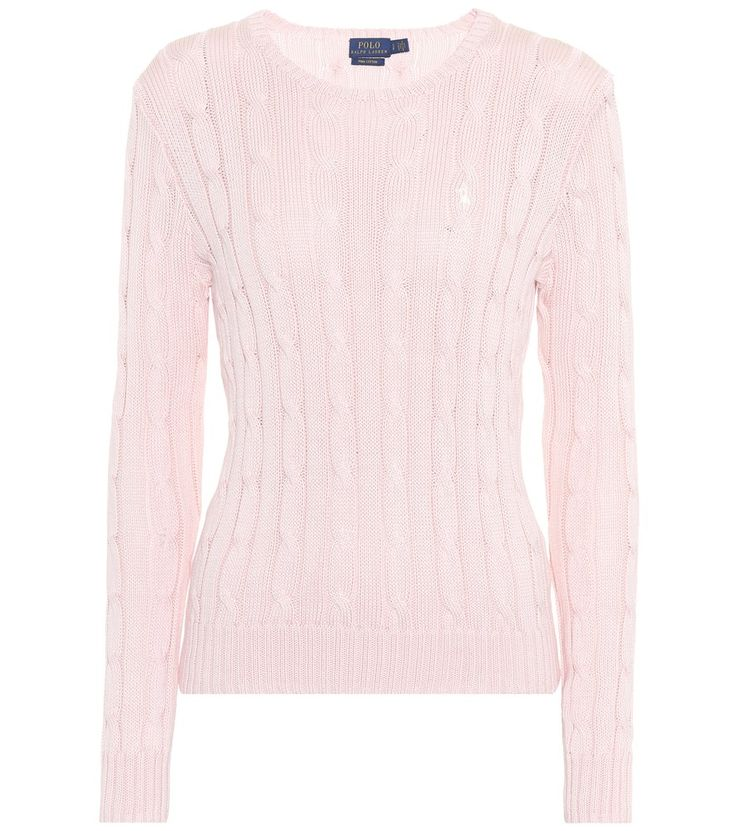 Polo Ralph Lauren - Cotton sweater - Polo Ralph Lauren offers the classic  cable-knit sweater at its best with this pink-hued design, crafted from  cotton.
