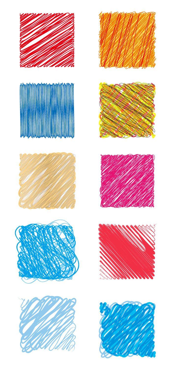 ペンの落書きの線の無料イラスト