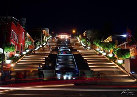escalinata de los héroes en Tlaxcala capital
