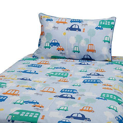 Buy John Lewis Transport Cotbed Duvet Cover and Pillow Set, Blue/Multi Online at johnlewis.com