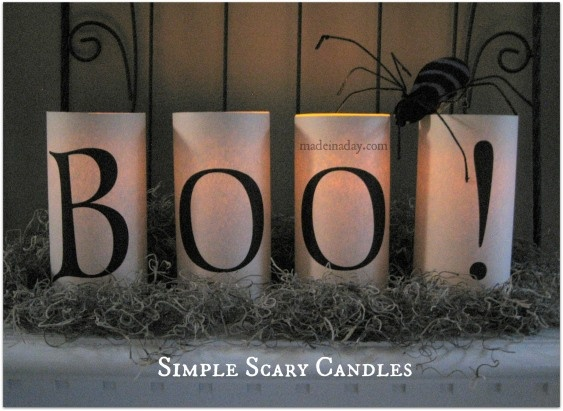 Simple Scary Candles