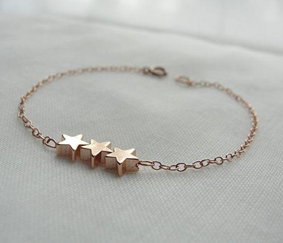 Three Gold Stars Bracelet