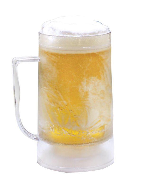 Bierkühler Bierkrug mit Kühlfunktion 500ml transparent 14x10,5x17,5cm. Aus der Kategorie Mottoparty Deko & Zubehör / Sommer Party / Hawaii Party. Die Party soll gleich beginnen, aber Sie haben keine Eiswürfel mehr im Kühlfach für die Getränke? Kein Problem! Das kühlende Bierglas kommt ganz ohne aus!