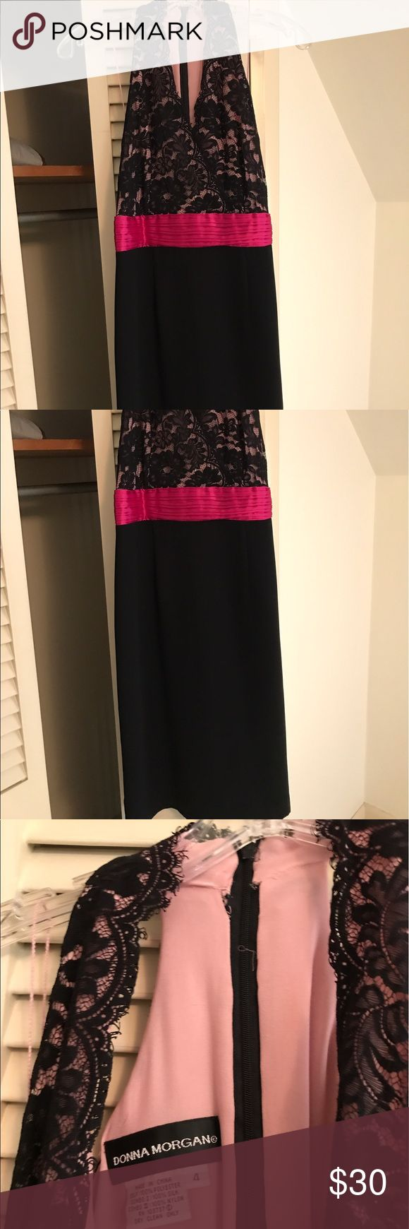 Donna Morgan dress Size 4- Donna Morgan dress- lace detail (slight damage on inside around zipper) Donna Morgan Dresses