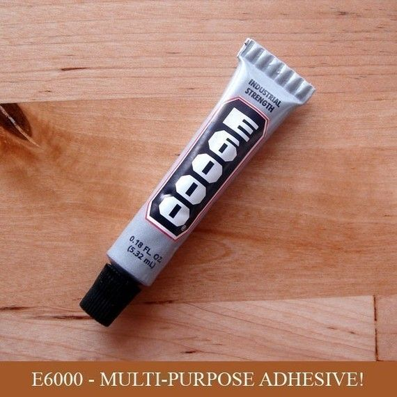 $2 :: E-6000 - .18 oz Small Tube Jewelry and Craft Adhesive - Scrabble Tile, Magnet, Glass Glue