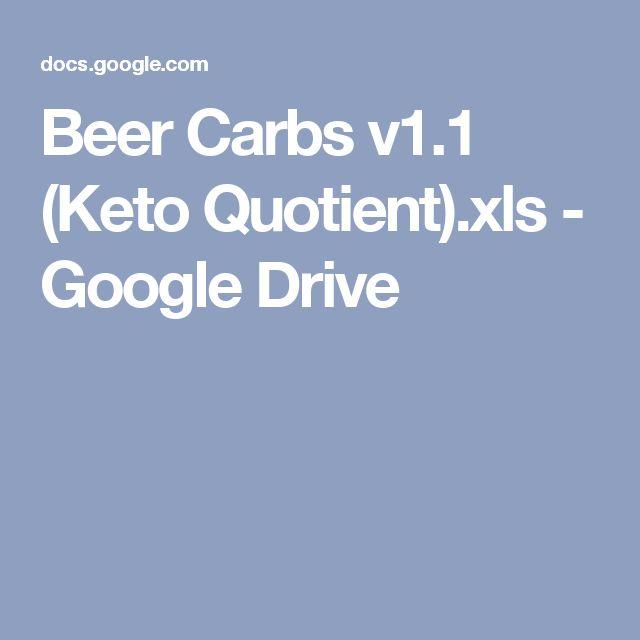 Beer Carbs v1.1 (Keto Quotient).xls - Google Drive