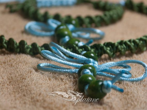 Green and blue set with dragonflies  bracelet and by Splatane, €15.50