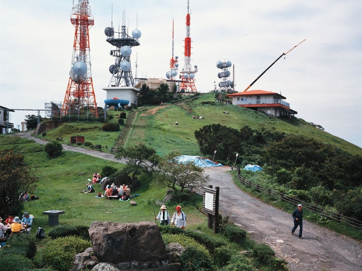 Armin Linke, Mountain with Antennas, Kitakyushu Japan, 2006