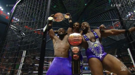 Elimination Chamber 2015: New Day defeated Los Matadores, The Ascension, Cesaro/Tyson Kidd, The Prime Time Players and Lucha Dragons for the Tag Team Championship.