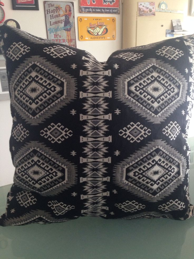 Woven tribal print. Couch Candy