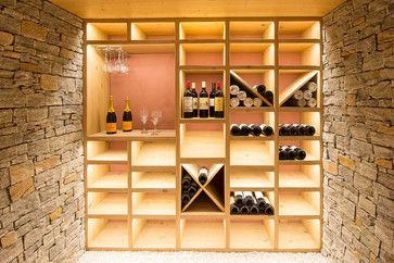 Création d'une cave à vin - contemporain - Cave à Vin - Other Metro - Ciel Atelier d'Architecture