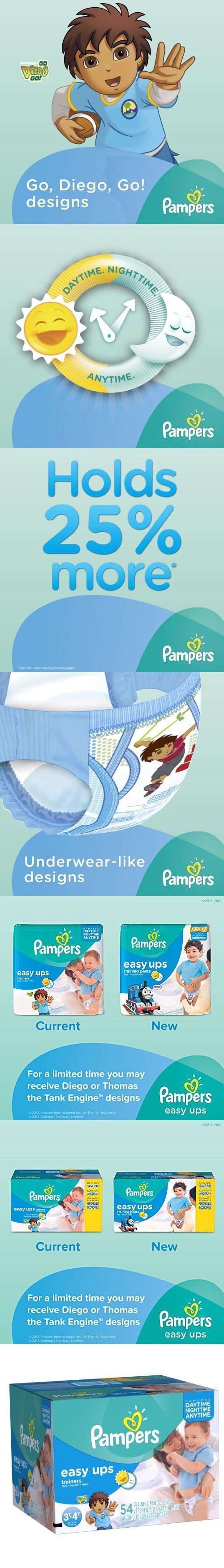 Pampers Easy Ups Boys Size 3T4T Big Pack 54 Count (Packaging May Vary)