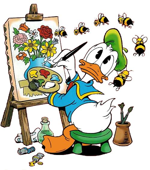 Donald Painting w/Bees