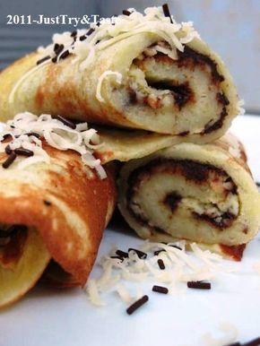 Just Try & Taste: Crepe Pisang Isi Coklat & Keju