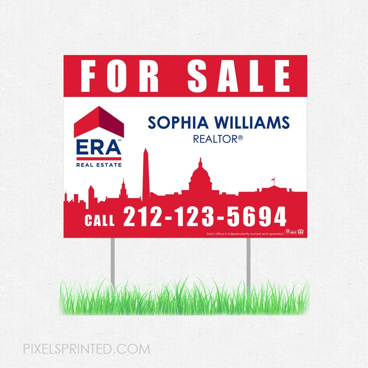 real estate yard signs, real estate lawn signs, realtor yard signs, realtor lawn signs, ERA real estate yard sign, ERA real estate lawn sign