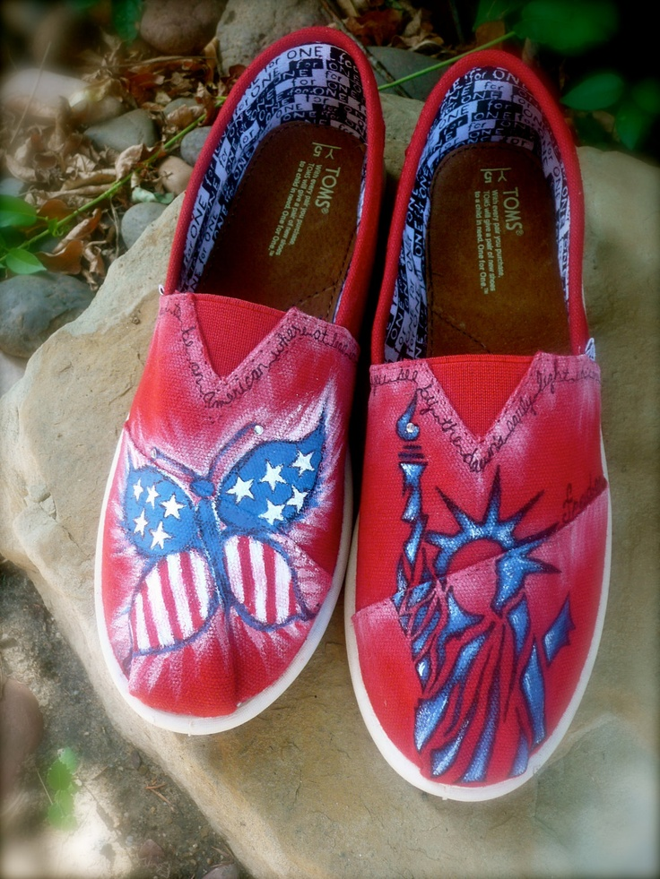 america the beautiful custom toms shoes quot made to order
