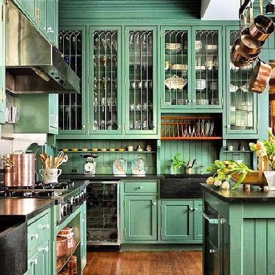 Awesome green kitchen