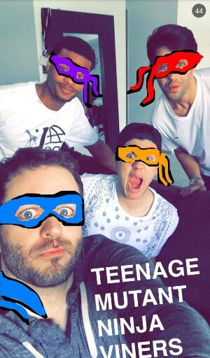 Curtis Lepore and Christian DelGrosso and Josh Peck and King Bach ♡ #R.B