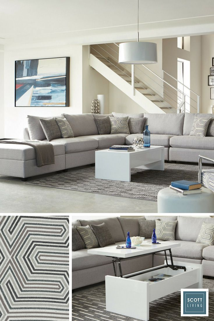 Kick back and enjoy precious time with family and friends in a living room designed with movies, popcorn, board games, and date night in mind. Click to shop online and let Jonathan and Drew Scott help you find your functional style.