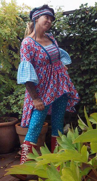 """Tuniken - Handmade Einzelstück Tunika """"Hazlet"""" - ein Designerstück von Die-Revoluzzerin bei DaWanda"""