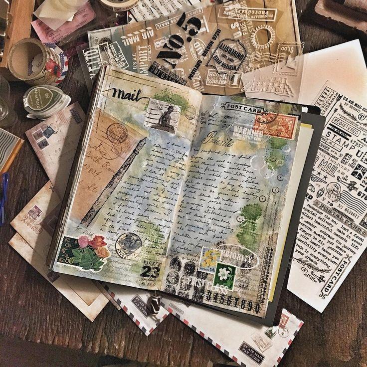 Journaling over watercolor