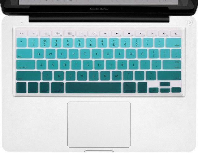 """Alabasta Gradient Ombre 7 Colors US Version Keyboard Cover Silicone Skin For Apple Macbook Pro 13"""" 15"""" 17"""" Retina Air 13""""+ Gift"""