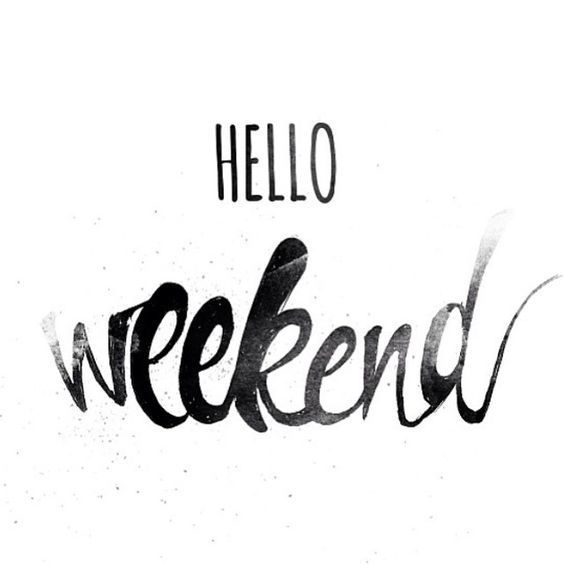 Hello weekend! | Hallo weekend, fijn dat je er weer bent! #enjoy #relax #saturday #sunday #weekend #chill #inspire