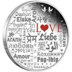 Language of Love 2016 2oz Silver Proof Coin