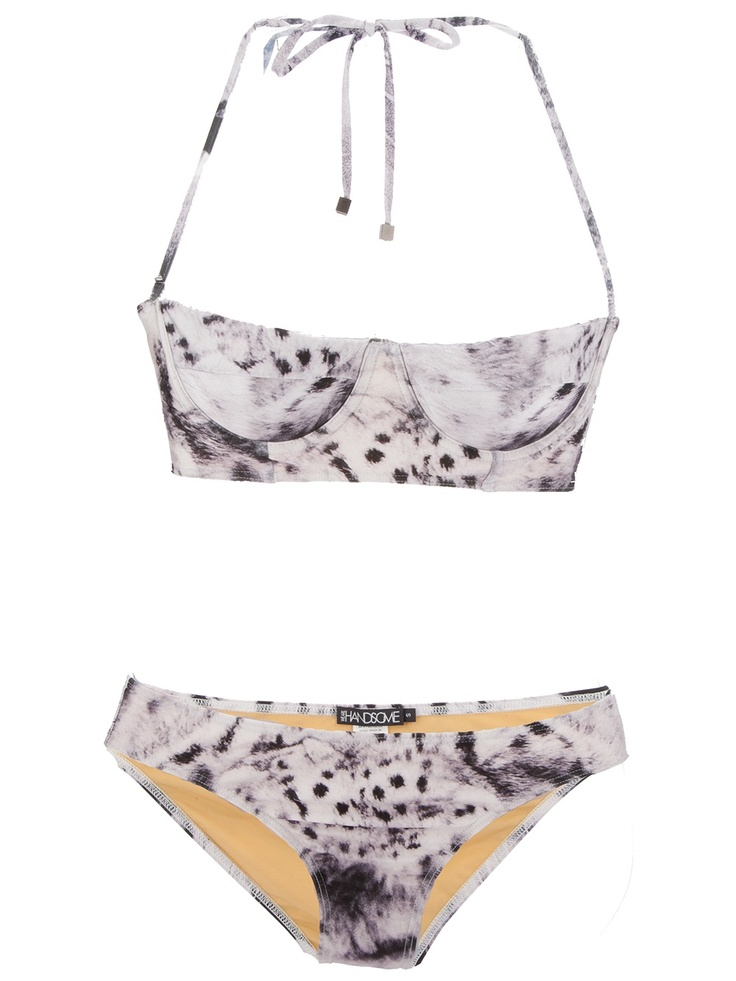 Leopard bikini by We Are Handsome. #swimsuit