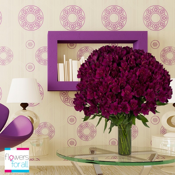 At Flowersforall.com you have various options to complement your room tones!