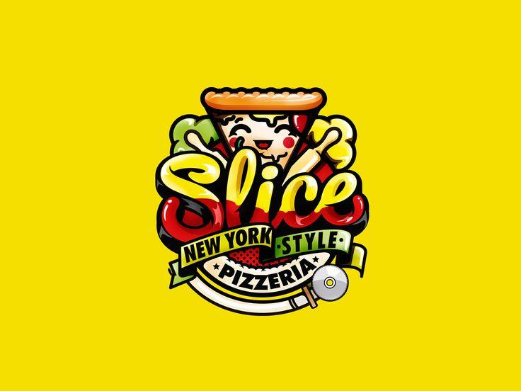 Brand slice pizzeria korea on Behance