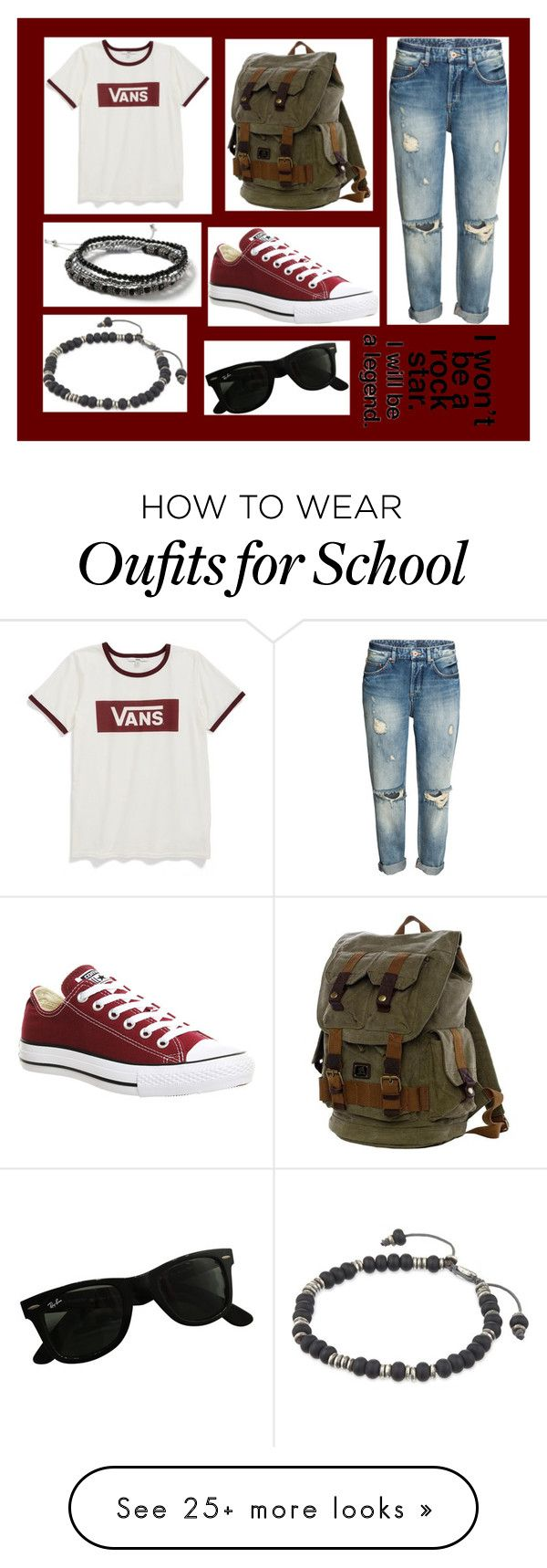 """""""09-23-16"""" by clear-skye on Polyvore featuring Vans, Converse, Ray-Ban, Topman and M. Cohen"""