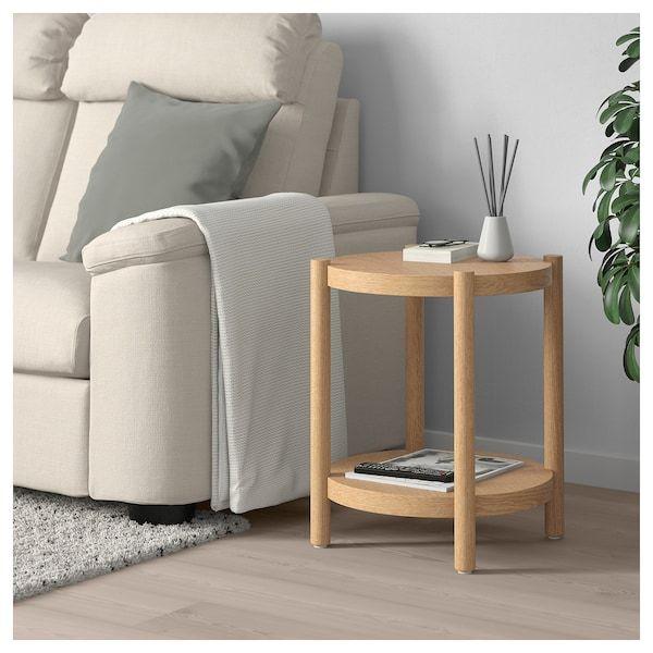 LISTERBY Beistelltisch weiß las. Eiche IKEA Österreich