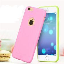 """Novo prichádzajúci puzdro pre iPhone 6S!  Candy farby Soft TPU Silikónové púzdra telefónu pre iPhone 6 4.7 """"Coque s logom Okenné príslušenstvo (Čína (pevninská časť))"""